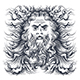 Neptune Head Illustration