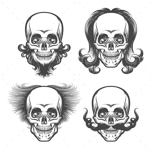 The Human Skulls Set - Miscellaneous Vectors