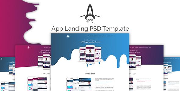 APPSI - App Landing PSD Template - PSD Templates