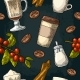 Seamless Pattern of Latte Sugar and Beans - GraphicRiver Item for Sale
