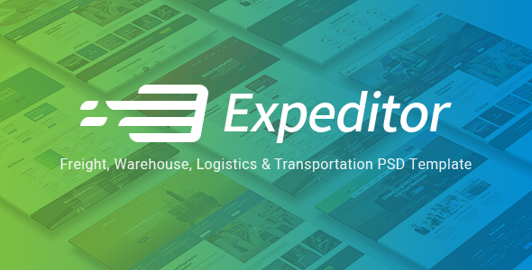 Expeditor - Logistics & Transportation PSD Template