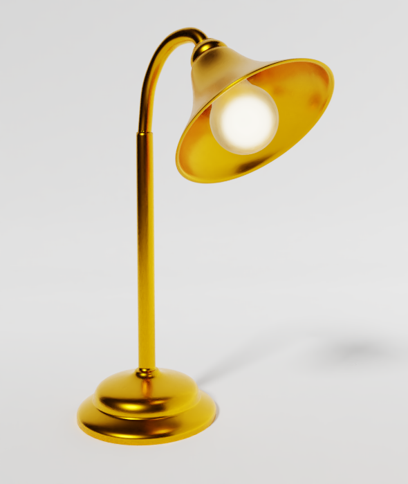 Gold Lamp - 3DOcean Item for Sale