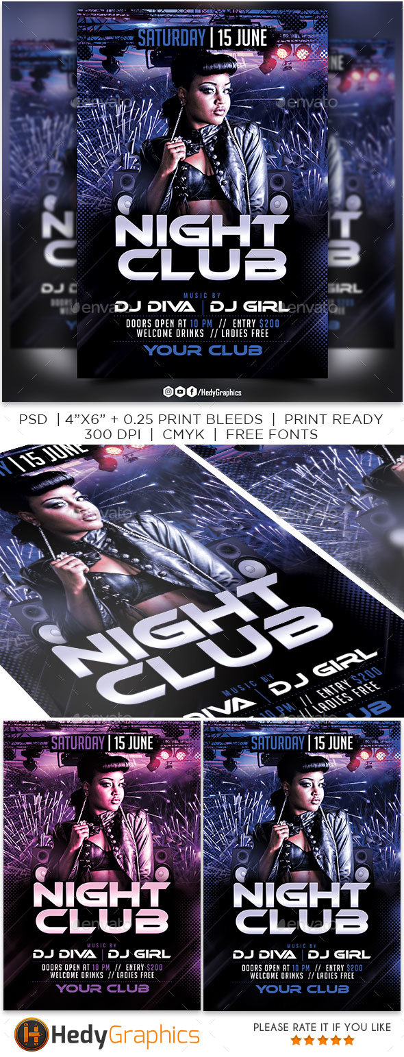 Night Club - Flyer - Clubs & Parties Events