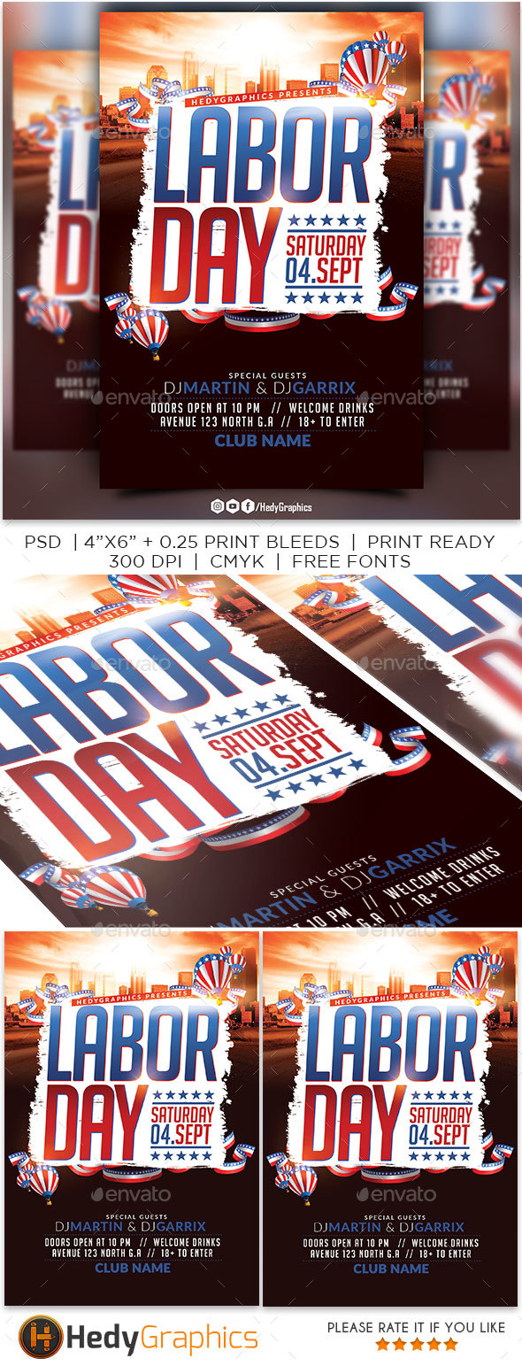 GraphicRiver Labor Day Flyer 20552356