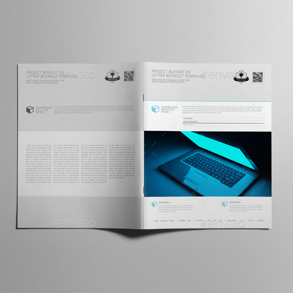Project Budget US Letter Booklet Template by Keboto   GraphicRiver