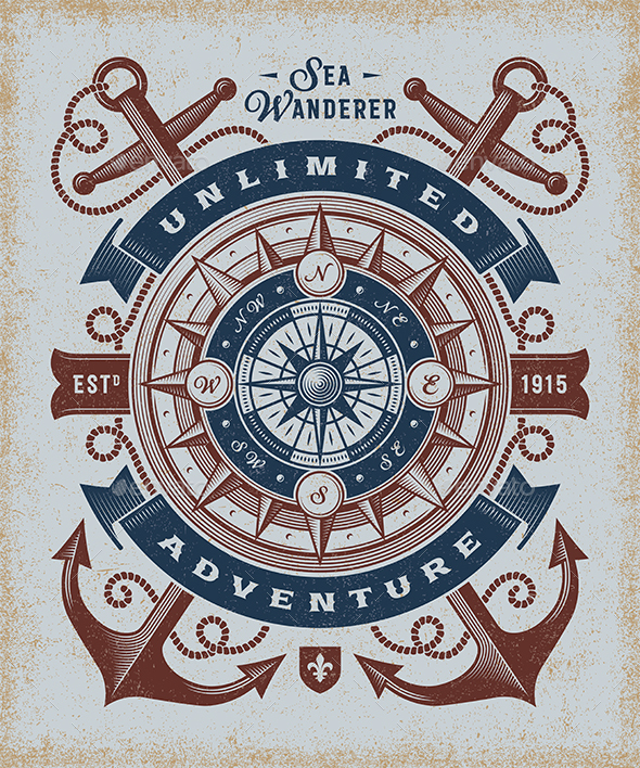 Vintage Unlimited Adventure Typography - Decorative Symbols Decorative