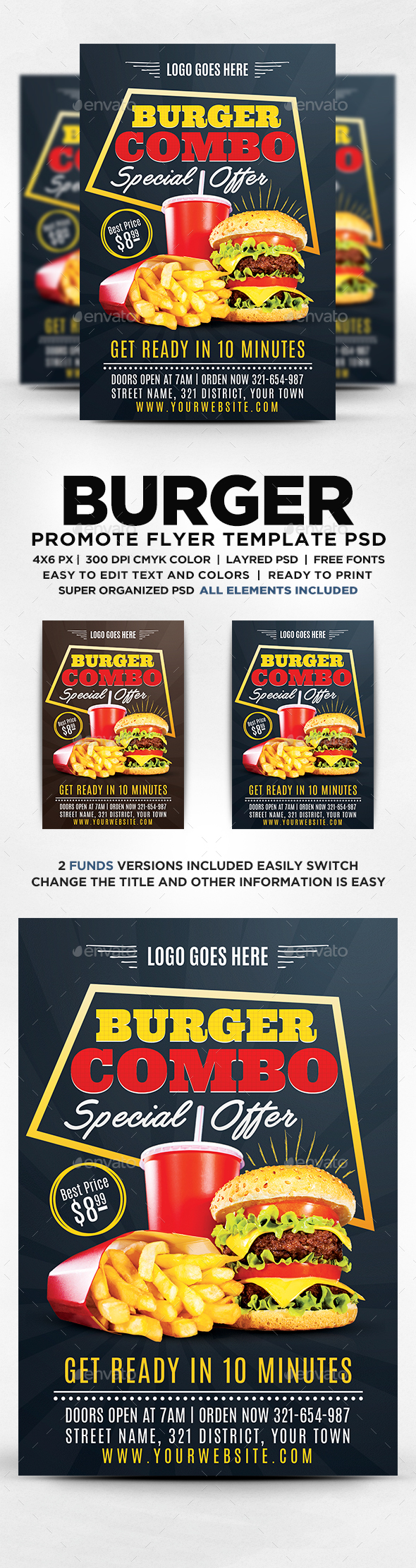GraphicRiver Burger Flyer Template 20552418