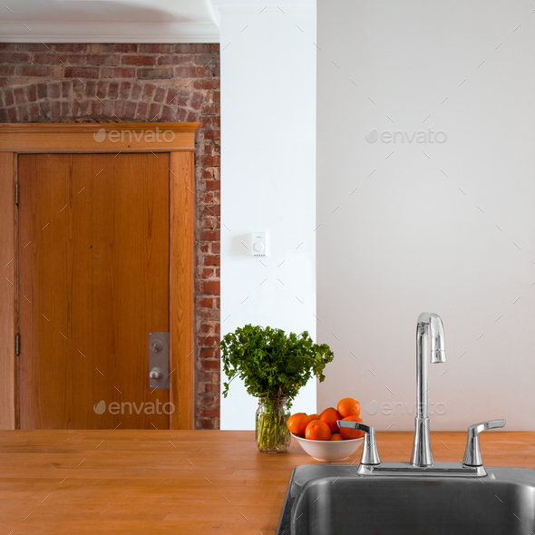Flat Wall Perspective Perfect for Painting or Addition - Stock Photo - Images
