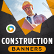 Construction Banners - GraphicRiver Item for Sale