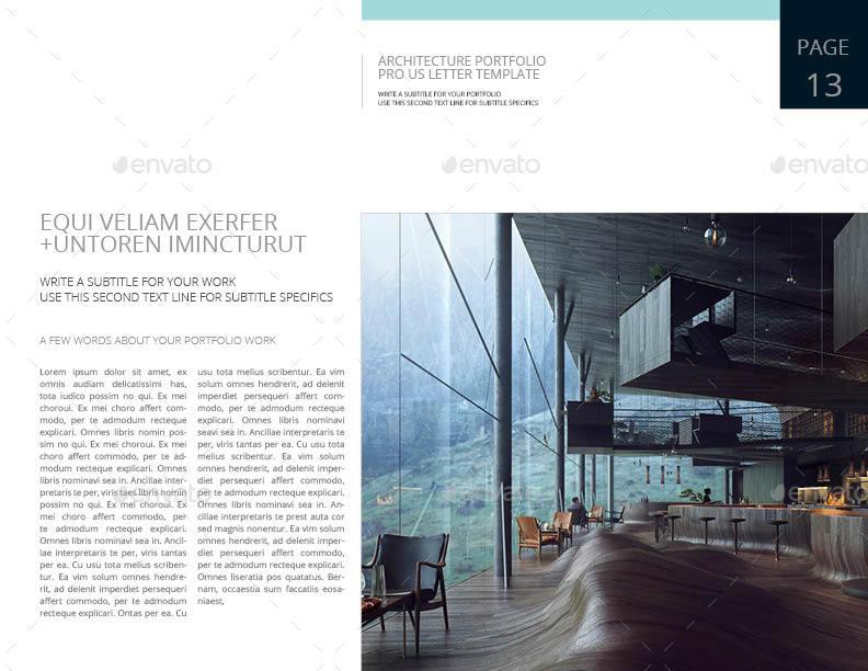 Architecture Portfolio Pro US Letter Template by Keboto #0: Architecture Portfolio Pro US Letter Template13
