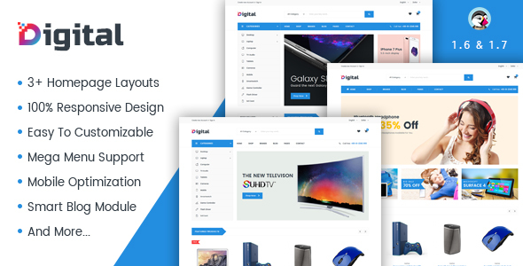 Image of JMS Digiworld - Digital Responsive Prestashop Theme