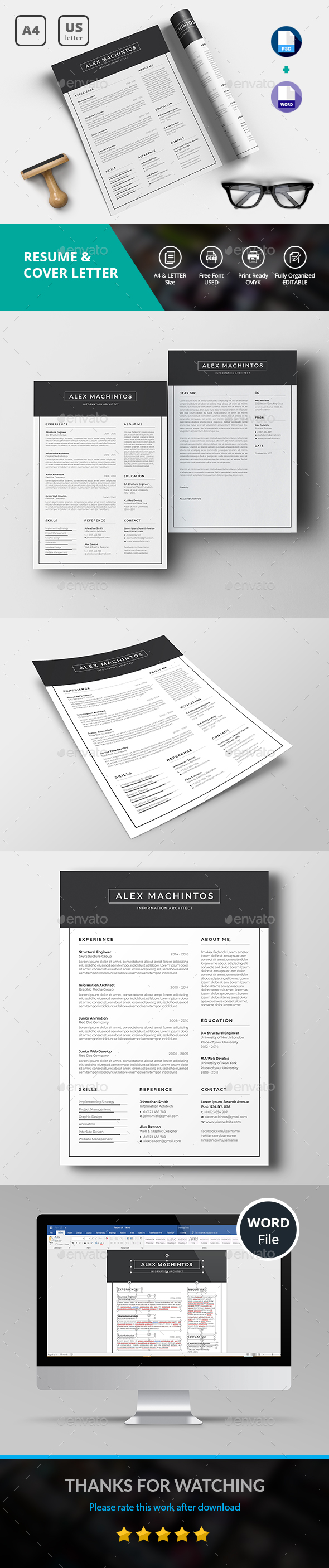 GraphicRiver Resume CV 20553421