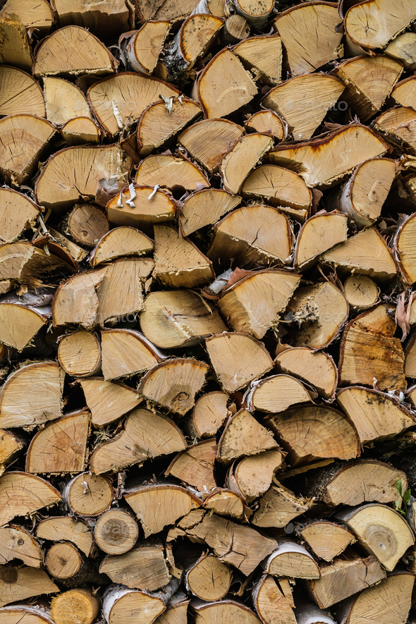 Dry Mixed Firewood Texture Background - Stock Photo - Images