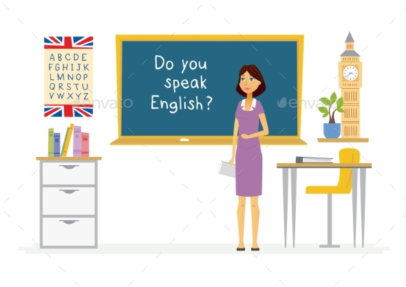 GraphicRiver English Teacher Cartoon People Characters 20553777