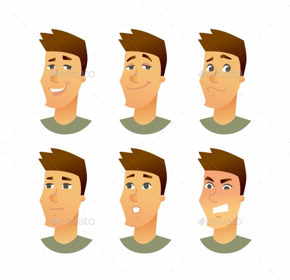 GraphicRiver Male Facial Expressions 20553783