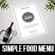 Simple Food Menu