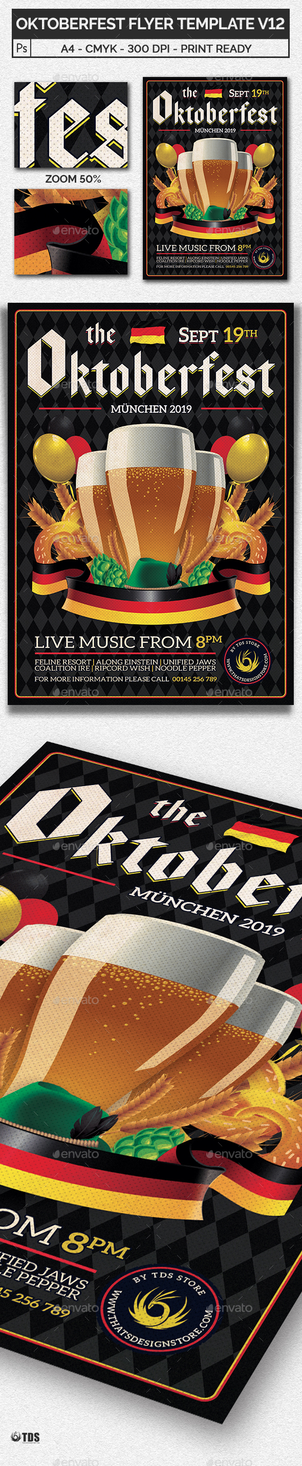 GraphicRiver Oktoberfest Flyer Template V12 20553839
