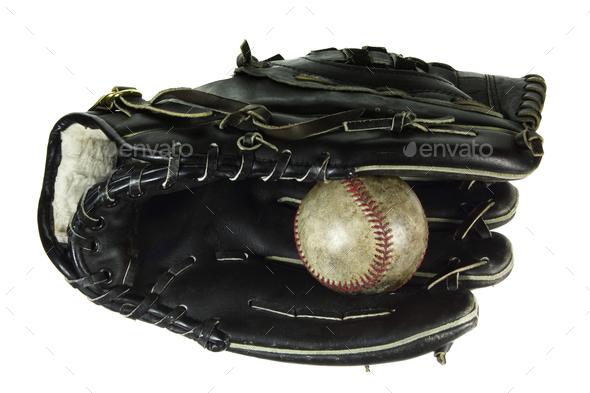 Baseball Glove and Ball - Stock Photo - Images
