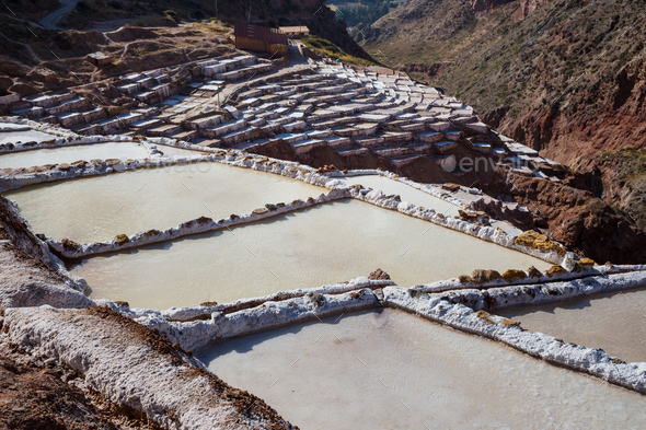 Salt ponds - Stock Photo - Images