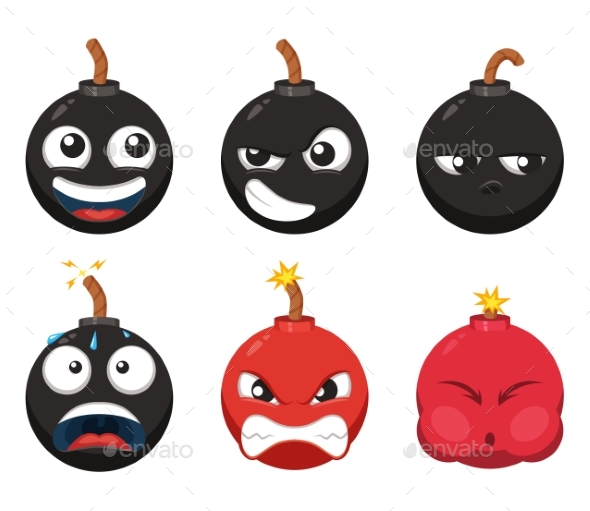 Cartoon Character of Bomb  - Miscellaneous Vectors