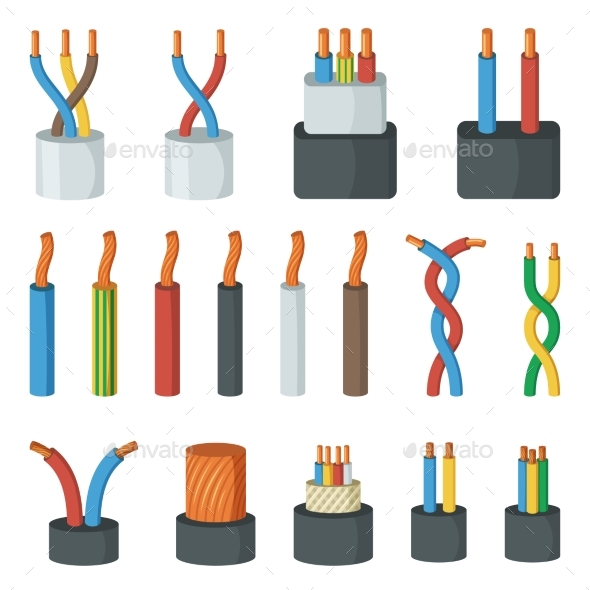 Electrical Cable Wires Different Amperage - Man-made Objects Objects