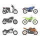 Different Types of Motorcycles. Vector Set