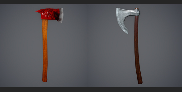 3DOcean Low Poly Firefighter Axe and Low Poly Viking Axe 20554228