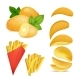 Vector Illustrations of Snacks or Chips. Pictures