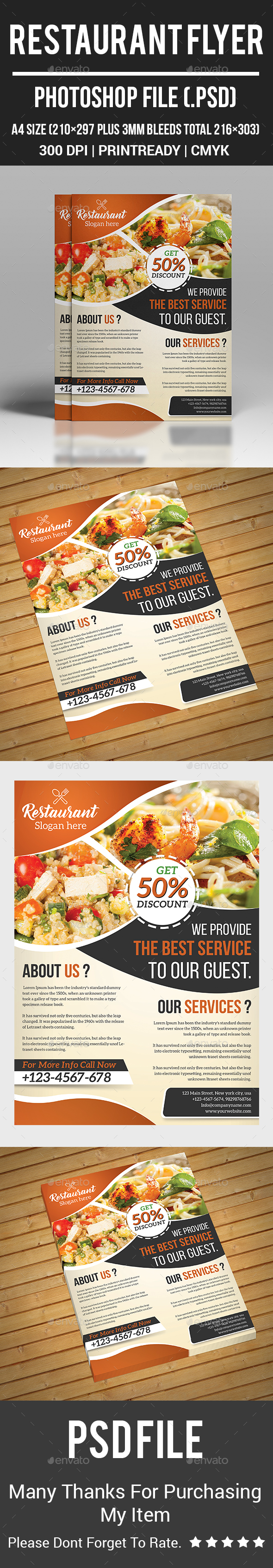 GraphicRiver Restaurant Flyer 20554331