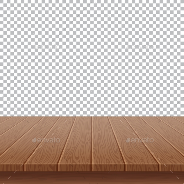 GraphicRiver Wood Table Top on Isolated Background 20554341
