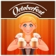 Octoberfest with Woman and Beer Banner - GraphicRiver Item for Sale