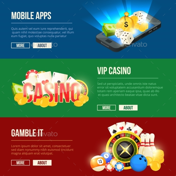 Colorful Icons Set of Different Casino - Objects Vectors