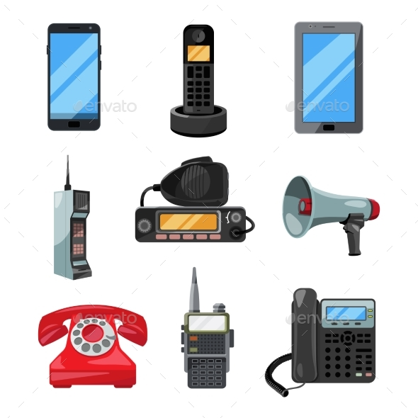 GraphicRiver Different Telephones Smartphones and Other 20554405