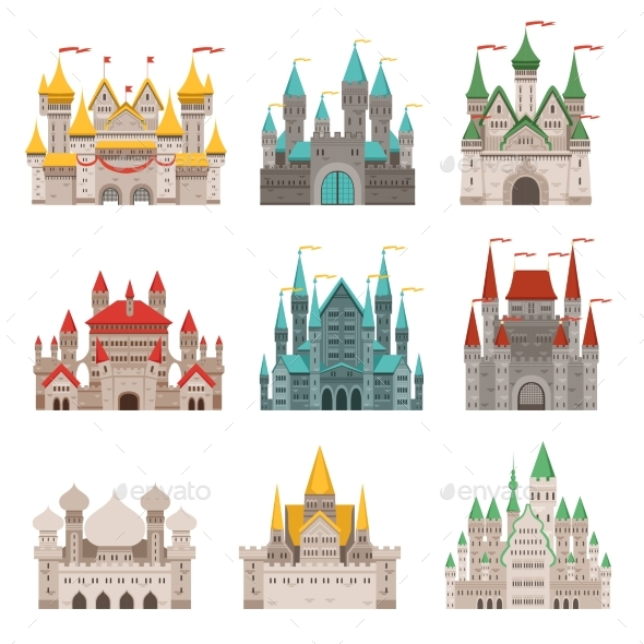 Medieval Old Castles and Historical Buildings - Buildings Objects