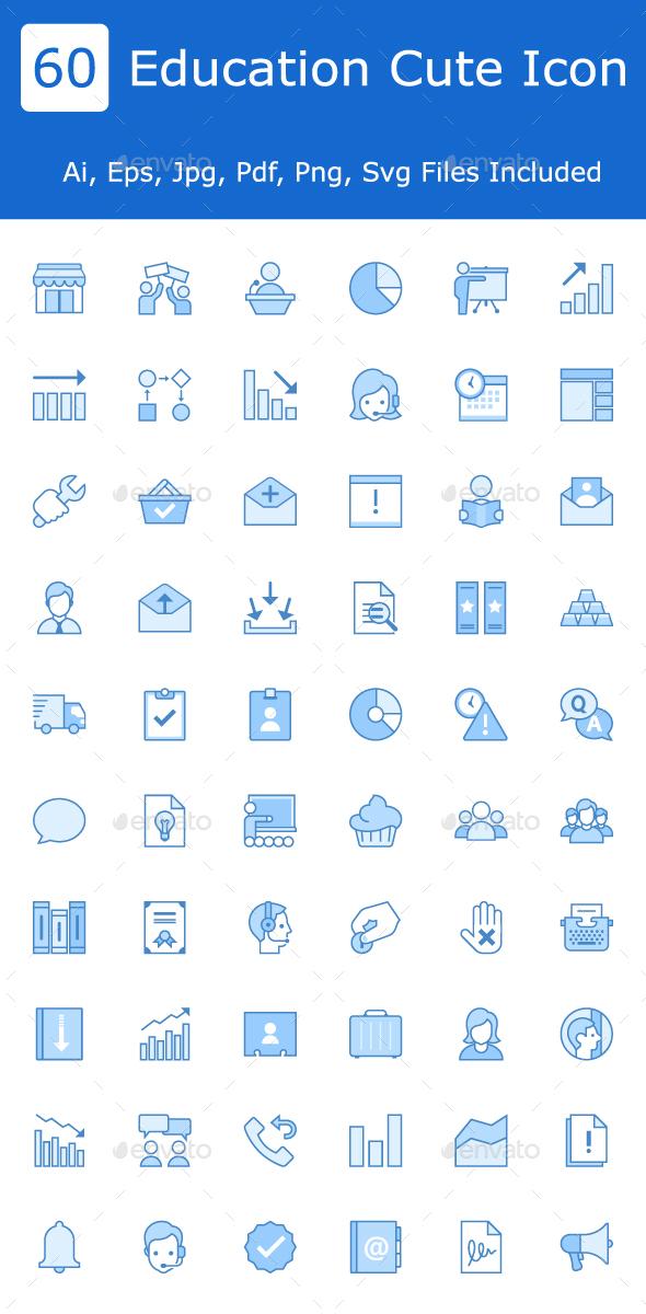 GraphicRiver Education Cute icon 20554517