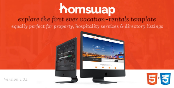HomSwap - Online Marketplace for Vacation-Rentals | Hospitality Services HTML5