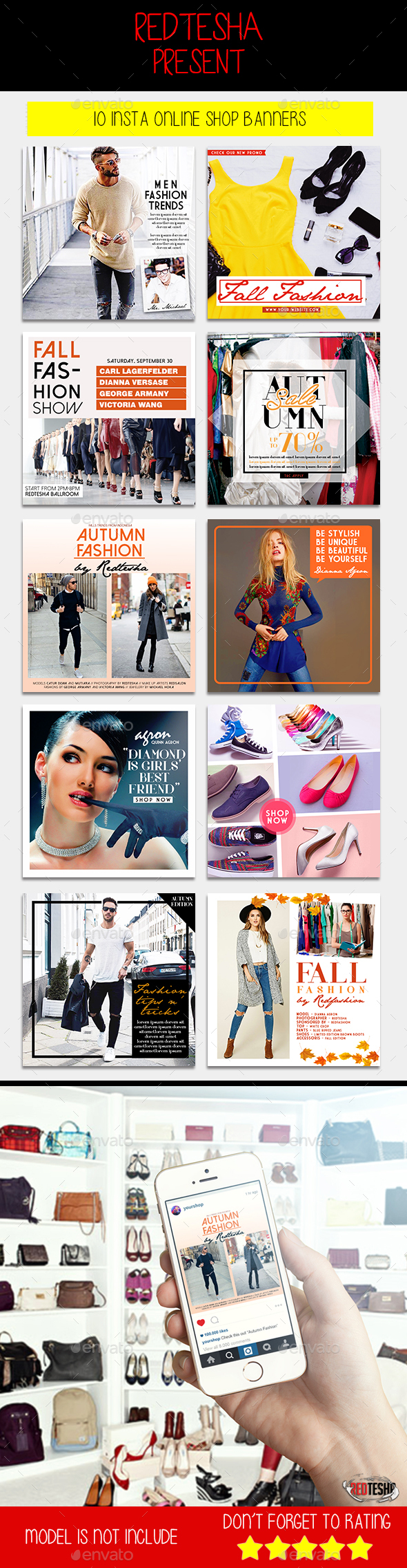 Instagram Fashion Banner #8 - Banners & Ads Web Elements