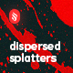 Dispersed Splatters Backgrounds - GraphicRiver Item for Sale