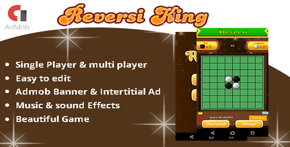 Reversi King board android game - admob ad integration - CodeCanyon Item for Sale