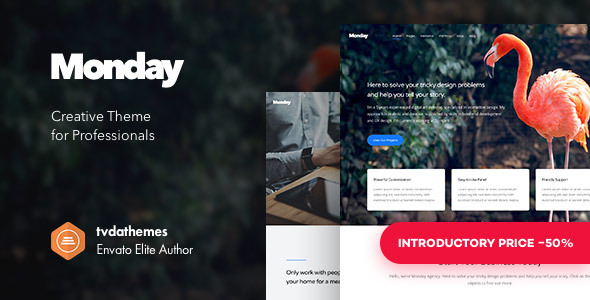 Monday - Creative Multi-Purpose WordPress Theme - Creative WordPress