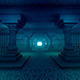 Tunnel With Columns And Bars - VideoHive Item for Sale