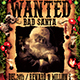 Wanted Bad Santa Flyer Template - GraphicRiver Item for Sale