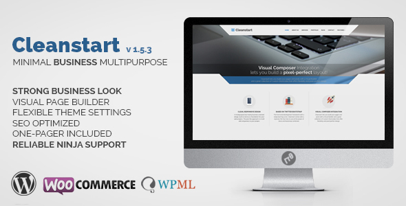 CLEANSTART Business - Multipurpose Business Theme - Business Corporate