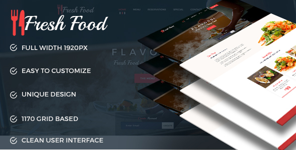 Fresh Food --- Restaurant PSD Template