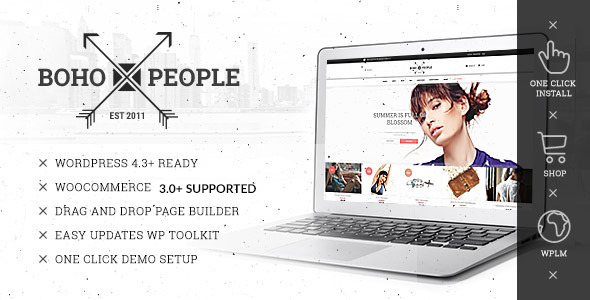 Bohopeople Unique E-commerce WP Theme