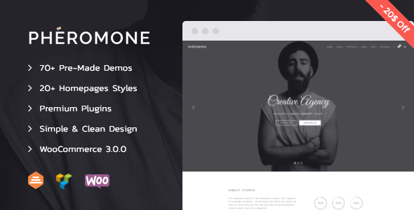 Pheromone - Creative Multi-Concept WordPress Theme