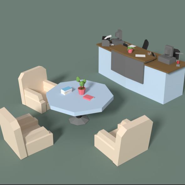 3DOcean Low Poly Cartoony Office Reception 20554916