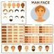 Man Face Constructor
