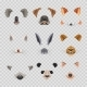 Video Chat Effects Animal Faces Flat Icons