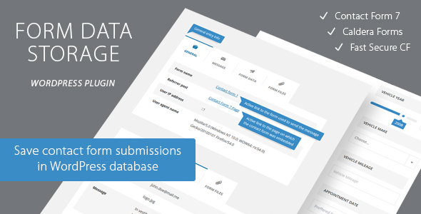 Contact Form Data Storage - CodeCanyon Item for Sale
